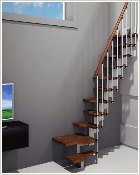 Space saver stairs new modular stairs design stairs designs - Small space staircase image ...