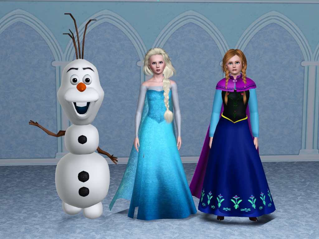 My sims 3 blog disney 39 s frozen characters elsa anna and - Olaf and anna ...