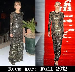 Patricia della Giovampaola d'Arenberg repite su glamoroso vestido Reem Acra fall 2012