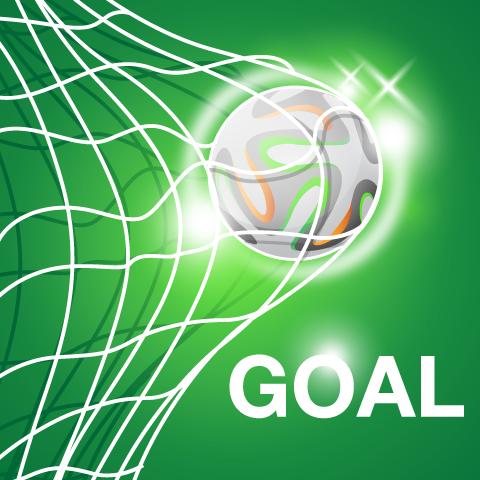 Gol en Brasil 2014 - Vector