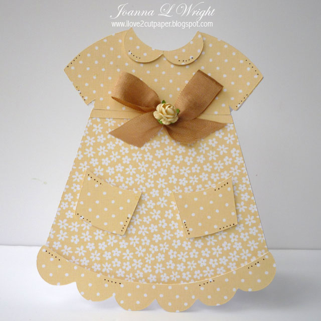 Wedding Dress Template for Cards