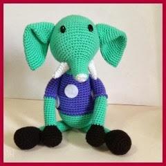 Elefante sentado amigurumi