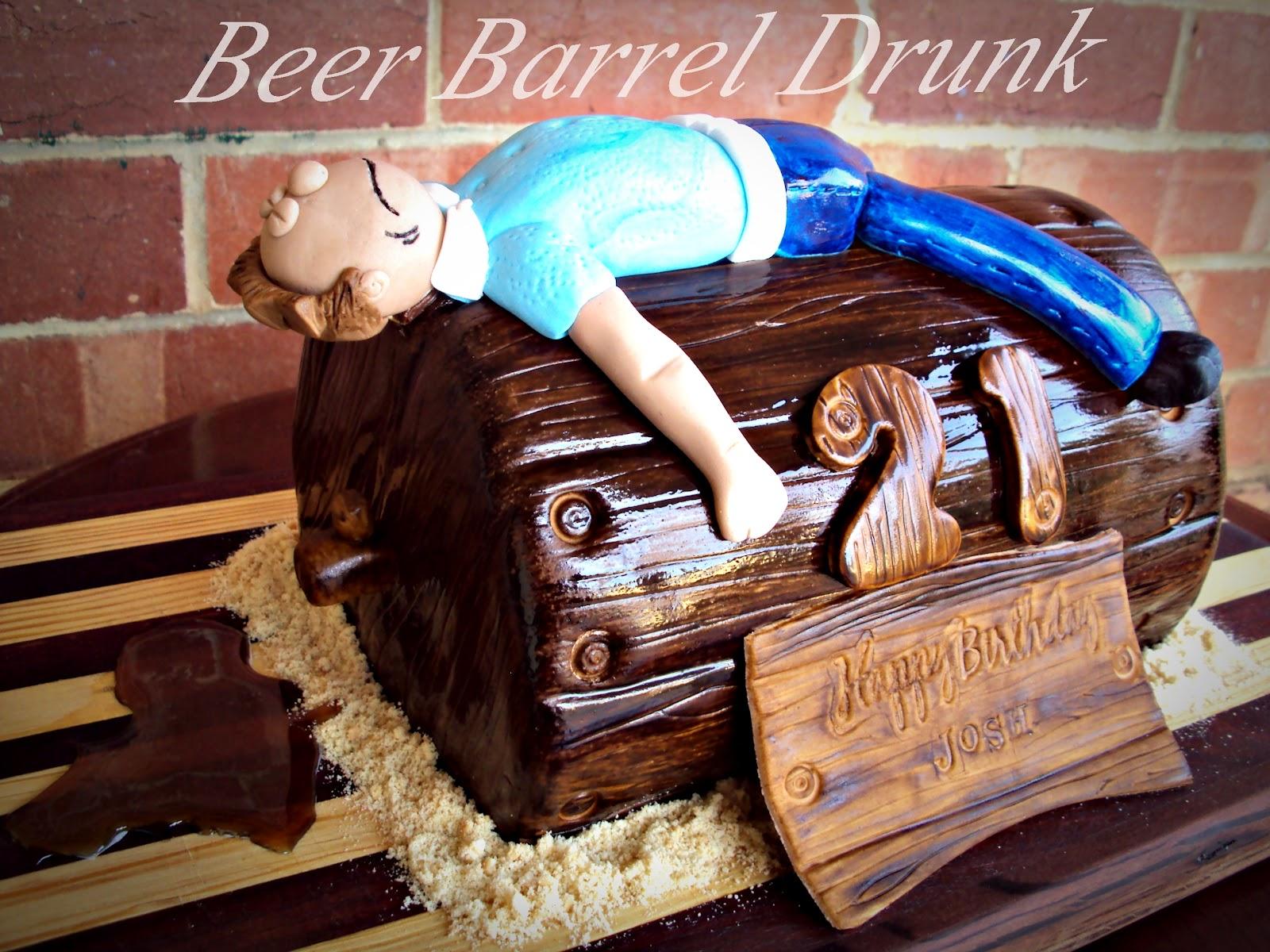 Danni S Creative Cakes Beer Barrel Drunk