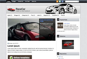 RaceCar Blogger Template