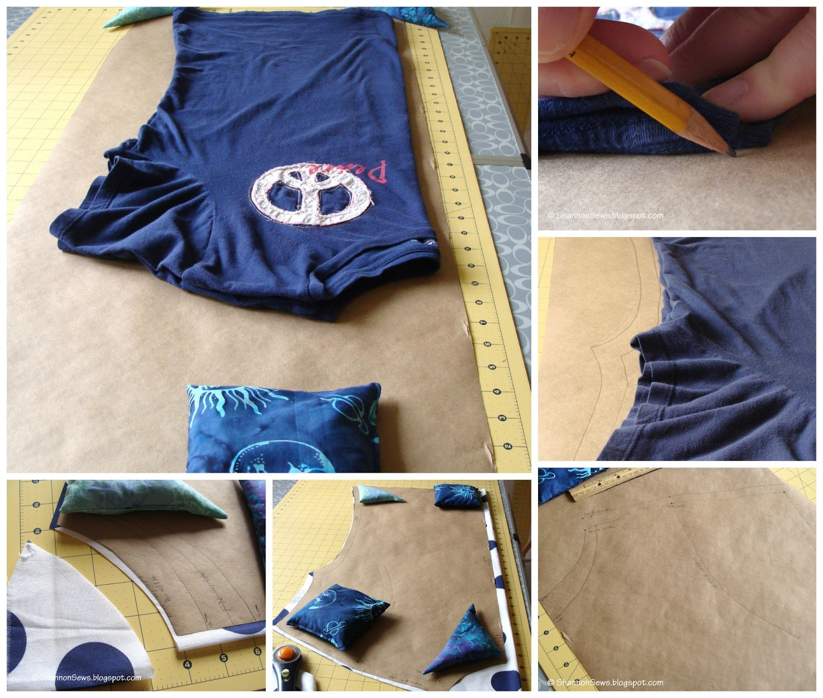 sew your own cotton top by making your own shirt pattern