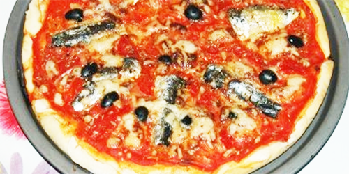 Pizza de pescado