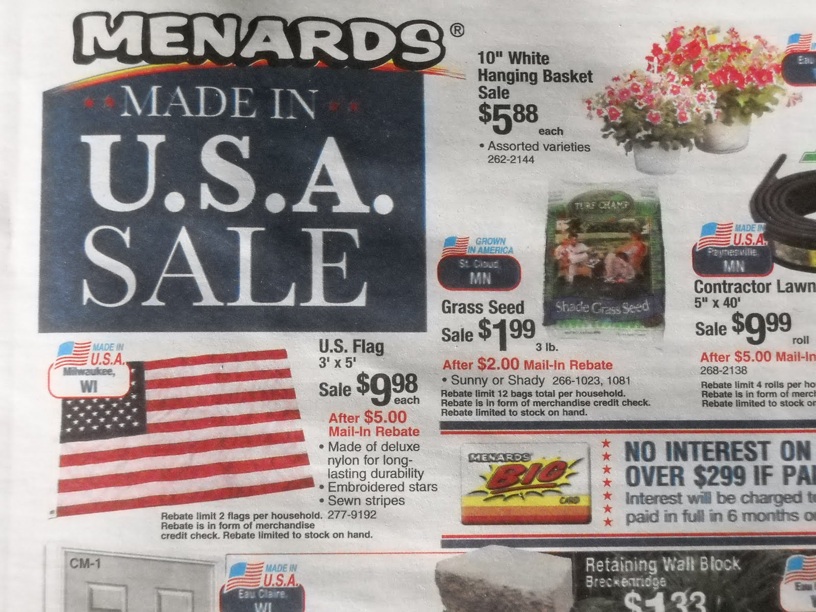 I have a big project closing soon that I need to buy materials for but would like to take advantage of the 11% rebate promotions it seems like Menard'I have a big project closing soon that I need to buy materials for but would like to take advantage of the 11% rebate promotions it seems like Menard'.
