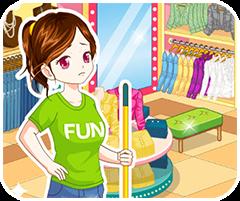 chơi game vui nhộn Dọn dẹp shop thời trang