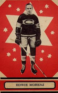 howie morenz o-pee-chee hockey card