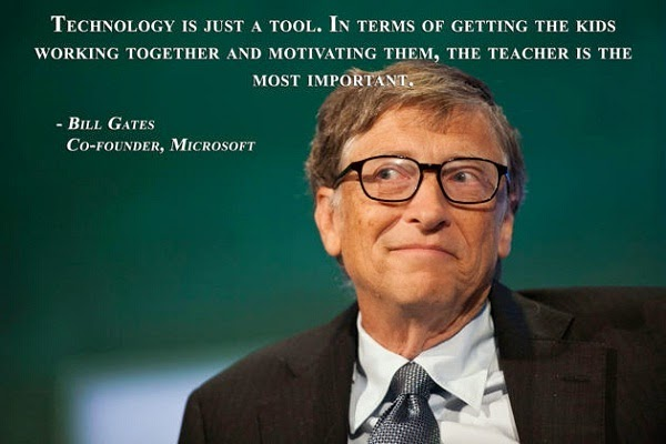 Educational quote from Bill Gates