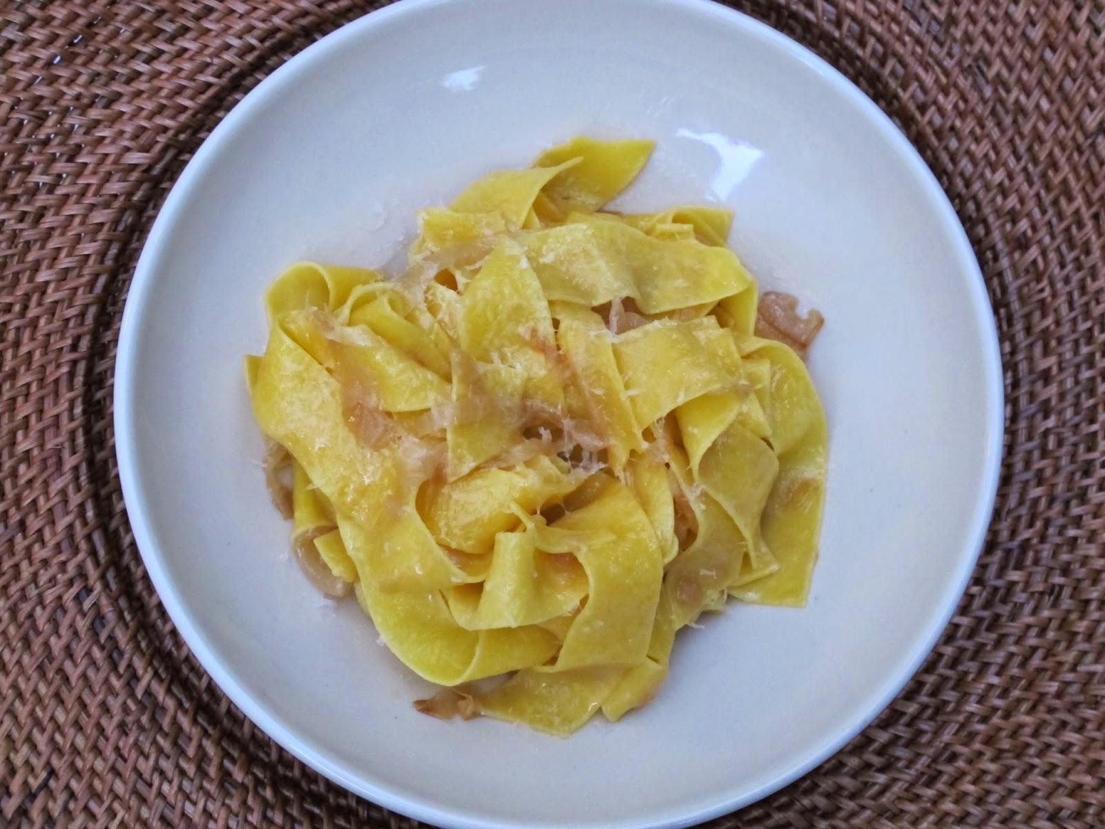 James Beard Braised Onion Pasta