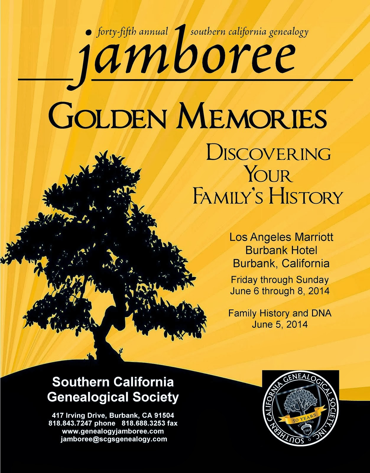 2014 Southern California Genealogy Jamboree - June 6-8, 2014