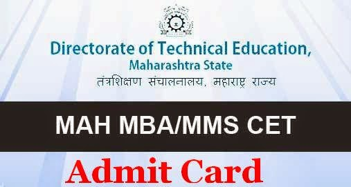 MAH-MBA-MMS-CET-2015 Admit Card Maharashtra-CET