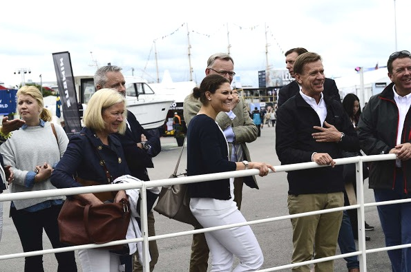 Princess Victoria Attends The Volvo Ocean Race In Gothenburg