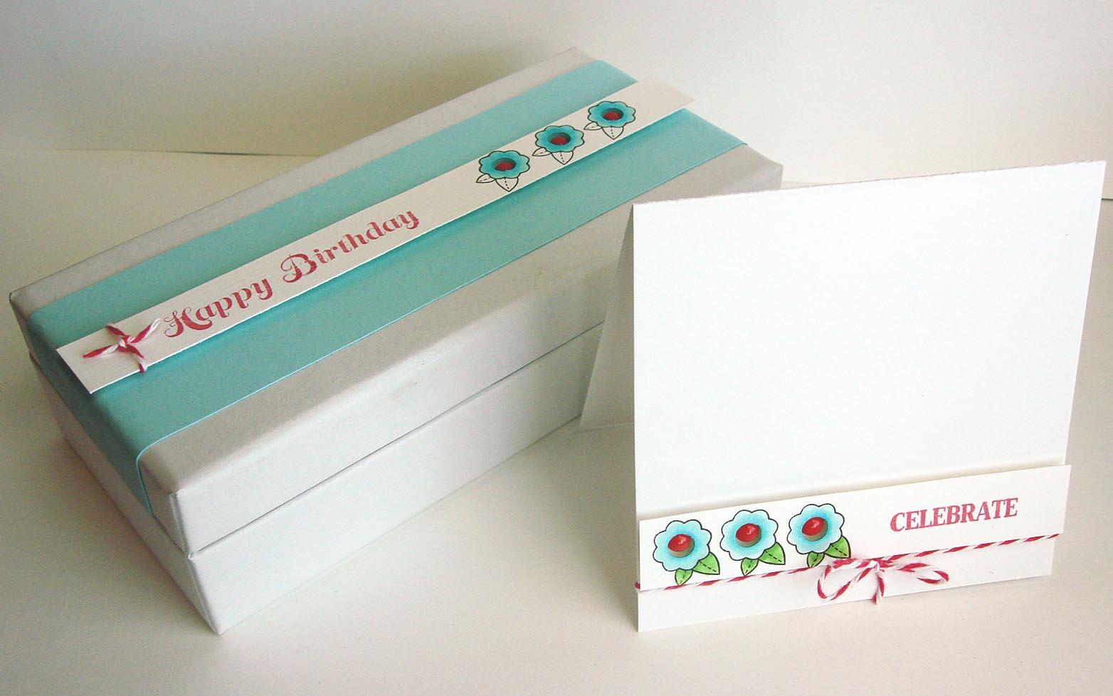 A Birthday Gift Box Card