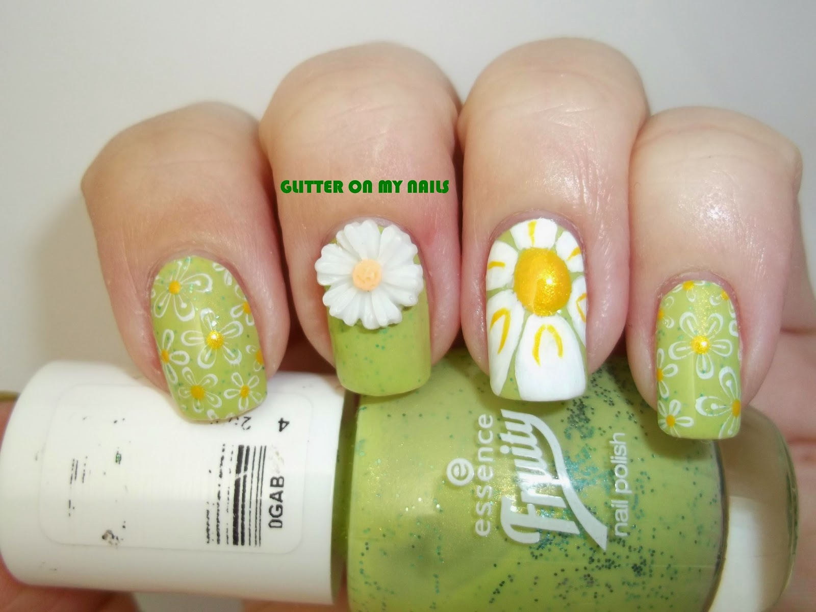 GLITTER ON MY NAILS: MARGARITAS 3D, COLABORACIÓN #5 BPS