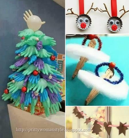 Коледна украса от рециклирани материали