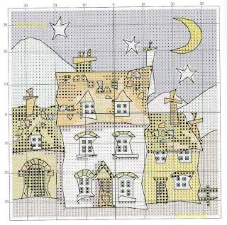Вышивка крестом дом милый дом схема 48