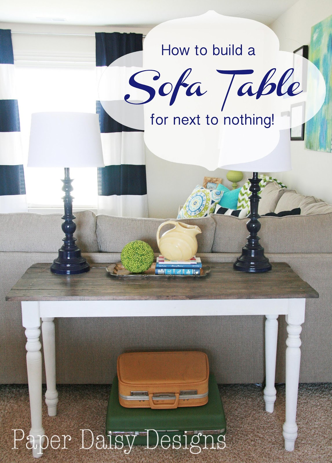 How to make a sofa table from 1 x 6 lumber - And How To Make New Wood Look Old