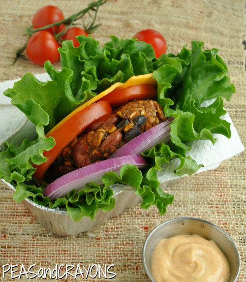 Vegetarian Chili Burger Lettuce Wrap