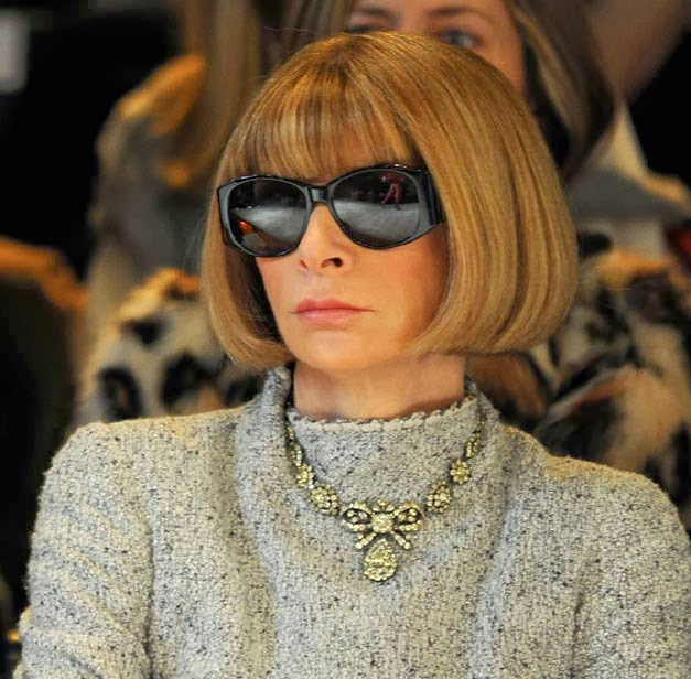 Anna Wintour in black glasses