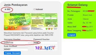 Nisura: Cara reset / ganti username password Indosatm2 - IM2 dan topup ...