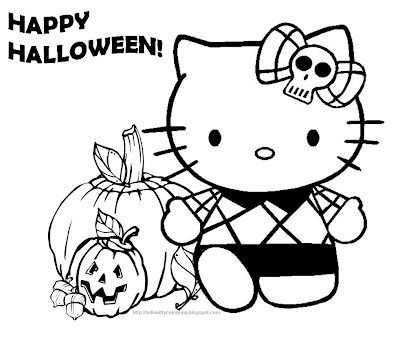 halloween hello kitty coloring pages - hello kitty coloring pages