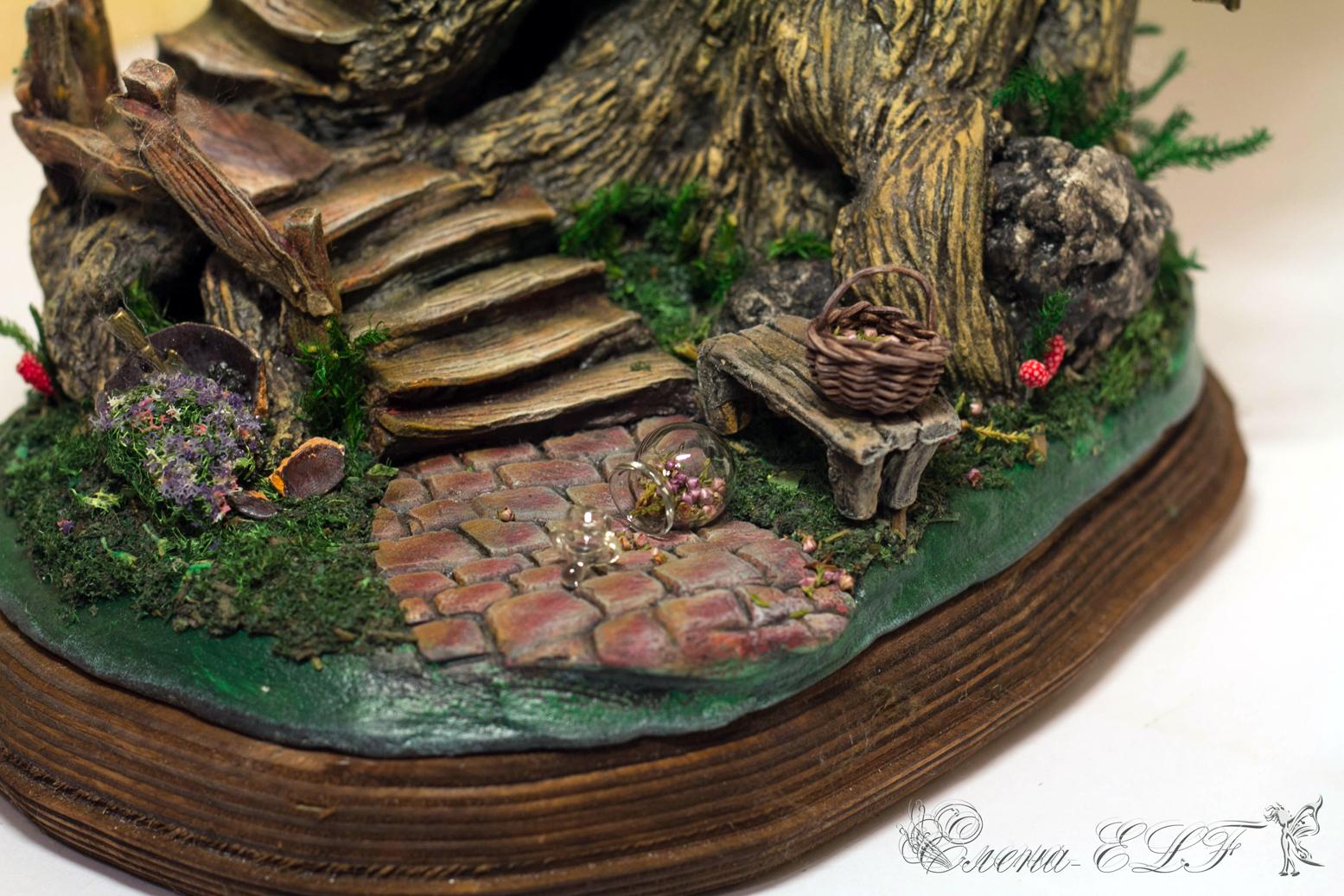 Домики эльфов своими руками из природных материалов 72