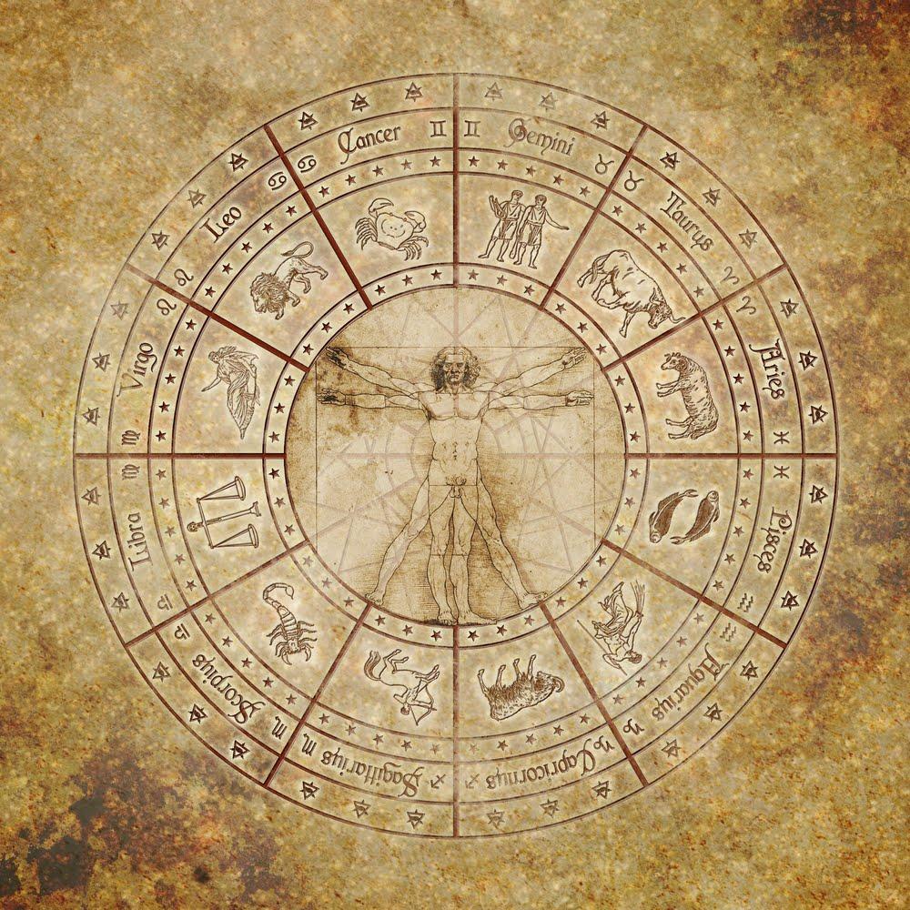 El Círculo Zodiacal y el Hombre de Vitruvio