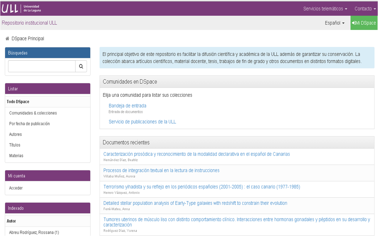 La Universidad de La Laguna ya dispone de repositorio institucional