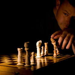 Machiavelli playing chess