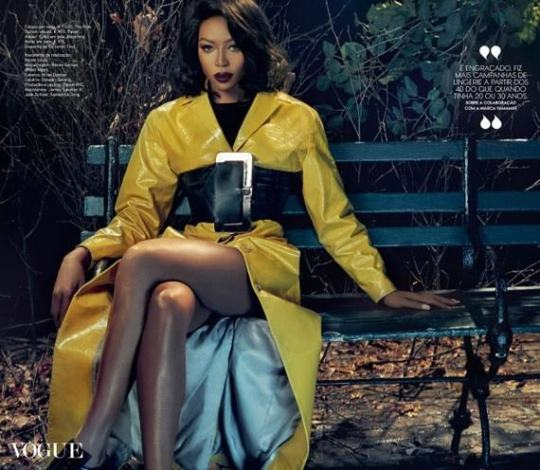 Naomi Campbell Supermodel goes super glamorous for Vogue Portugal Feb. 2016 cover feature 2