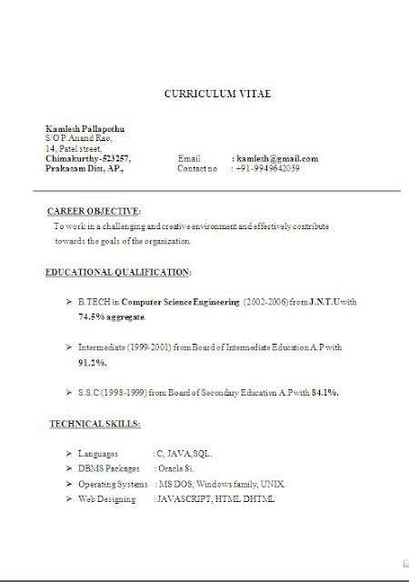 pin examples of a short resumes 1 on pinterest