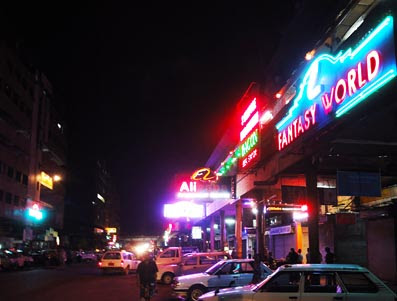 Myanmar nightlife at Theingizay ( Theingyi Zay) in Chinatown
