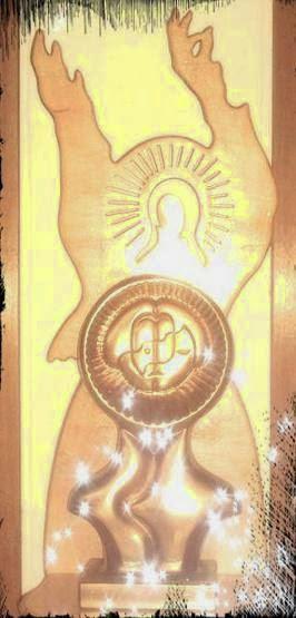 Scaun angel şi Madona cu pruncul(procesare imagine:Raluca-Crina Florescu)