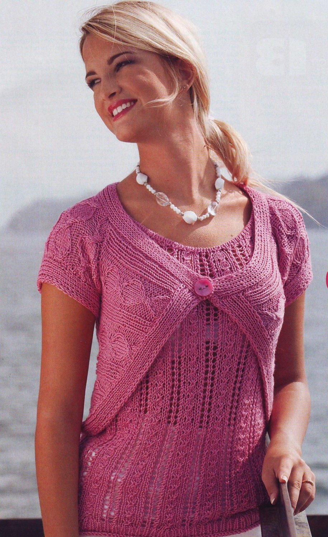 Отзывов: 7. летние модели.  Вязание для женщин спицами. топ.  Болеро. топы, майки.