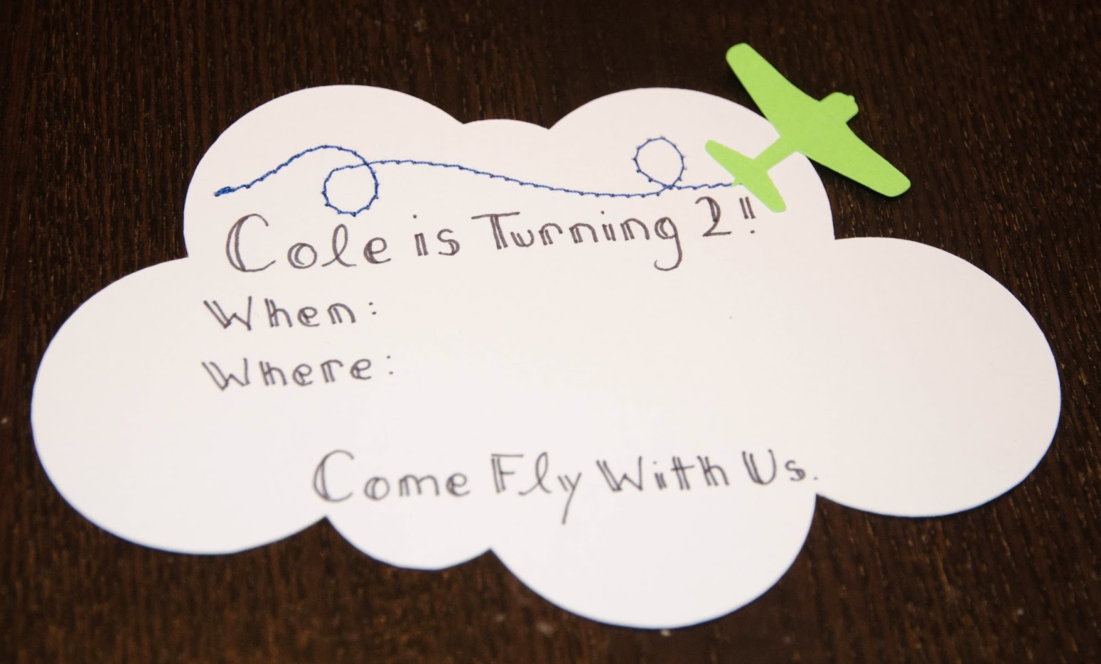 these little loves: A DIY Airplane Birthday Party Invitation