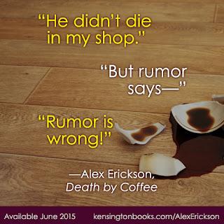 Death by Coffee by Alex Erickson (2015, Paperback)