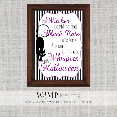Halloween Decor - Wamp Designs Etsy Shop