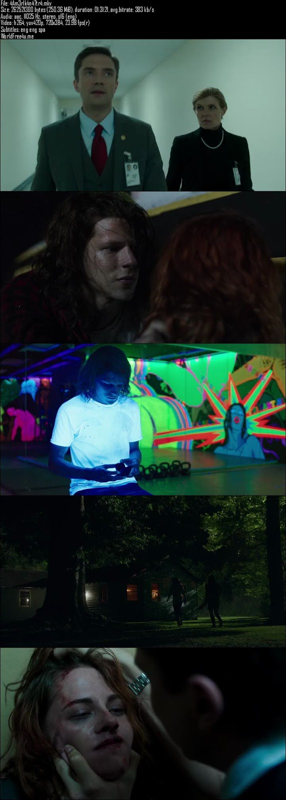 Screen Shot Of American Ultra 2015 300MB BRRip 480P HD In English Short Size PC Movie