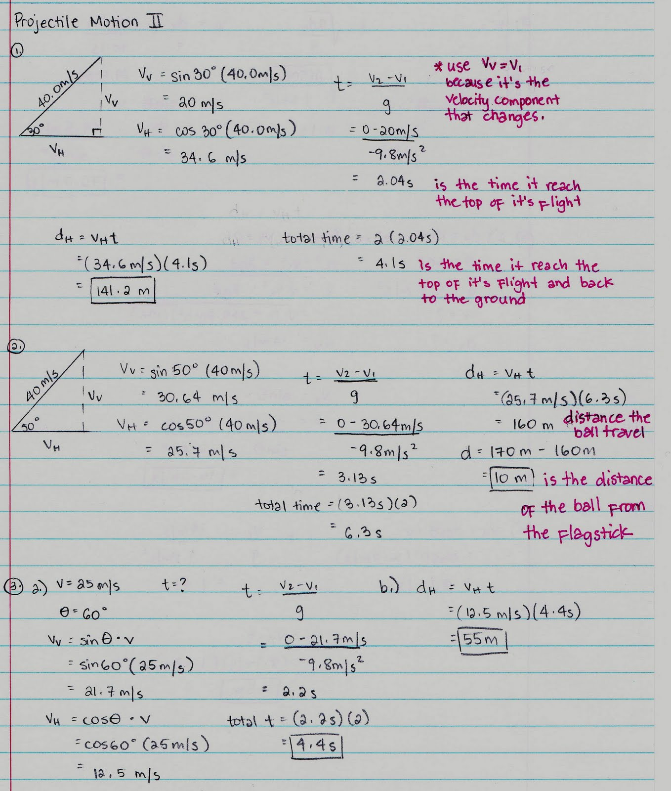 Physics12022010 Projectile Motion continued – Projectile Motion Worksheet