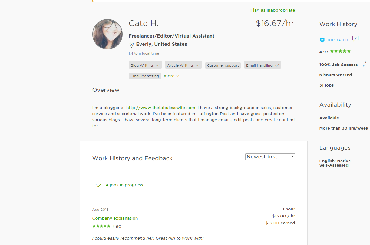 Watch How to Create an Upwork Profile video