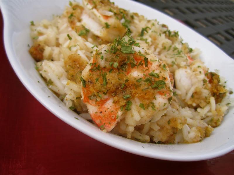 Stephanie Cooks: Chicken and Shrimp Scampi Bake