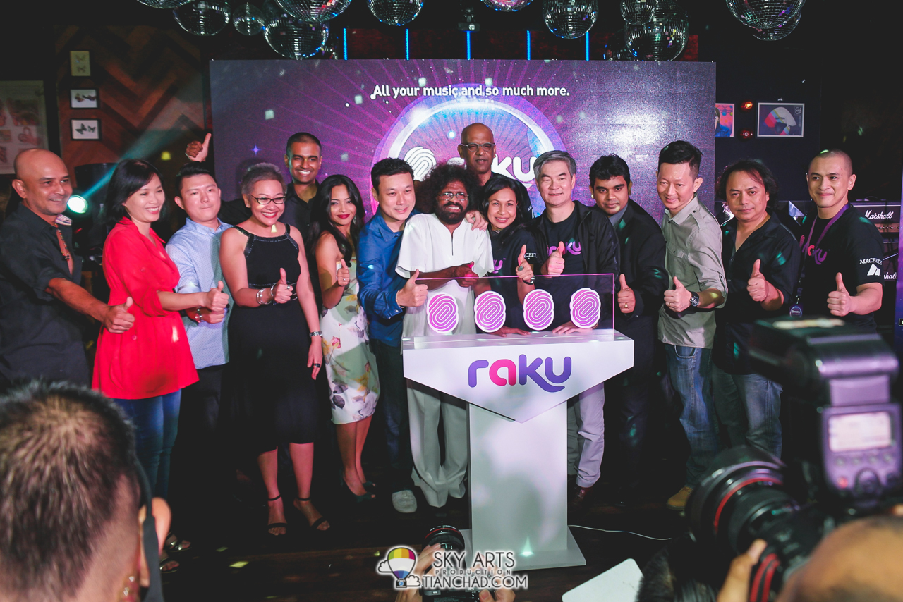 People who made RAKU Music Apps possible and artists who attended the event that evening