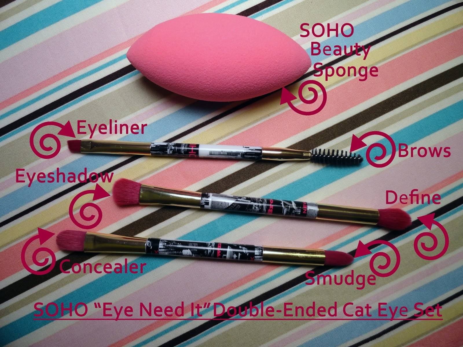 the little things  review  soho beauty blender and eye brush set