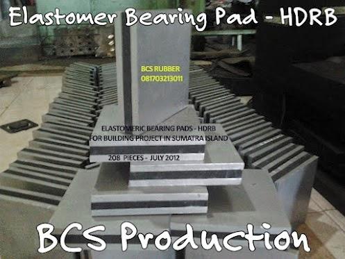 Elastomer Bearing Pad / Bantalan Jembatan ,Polos, Steel Plate, Seismic Rubber Bearing Pads..