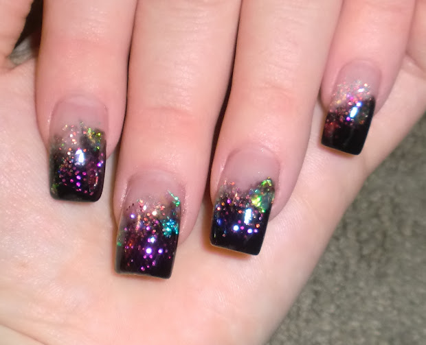 love4nailart cosmic acrylic nails