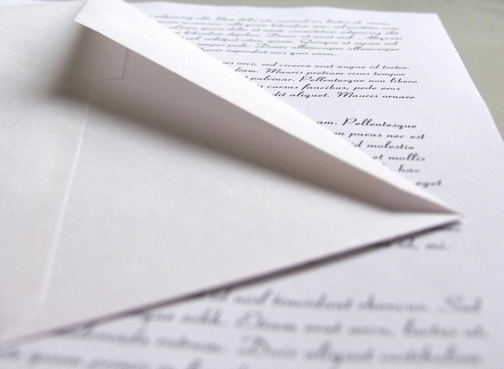 como escrever uma carta