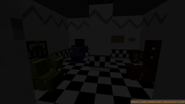 Un cuarto del mapa Five Nights at Freddy's 2 para Minecraft 1.8
