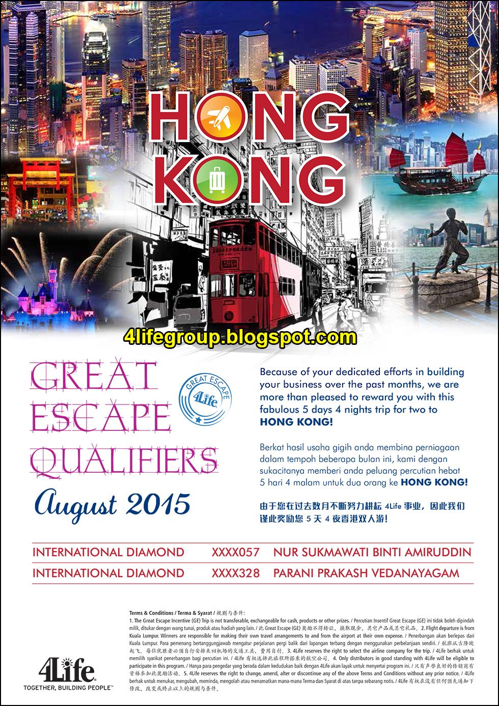 foto August 2015 Great Escape+ Winner